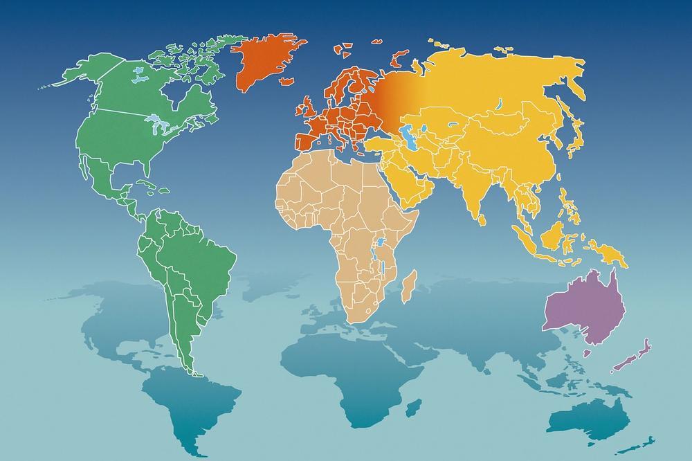 mapa drzava sveta NEOBIČNA MAPA SVETA: U jednoj zemlji se govori čak 16 jezika  mapa drzava sveta