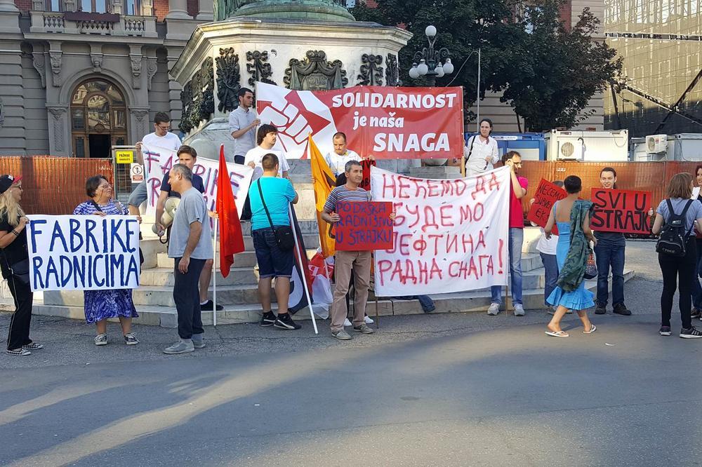 PROTESTNI SKUP U CENTRU BEOGRADA: Podrška radnicima i malinarima koji se ovih dana bore za egzistenciju