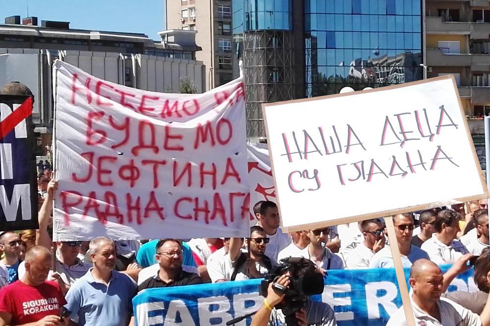 DIŽU SE RADNICI IZ CELE ZEMLJE: Srpska vlada gladnom ne veruje! Više od 3.000 ljudi u štrajku