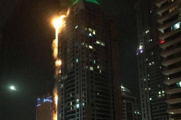 Резултат слика за Video: Gorjela jedna od najviših zgrada svijeta