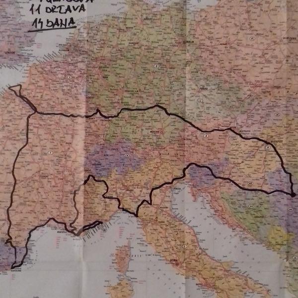 gazdarica rs mapa grad beograd FOTO) GDE MI ŽIVIMO?! Na dva točka, kroz 11 država i 27 gradova  gazdarica rs mapa grad beograd