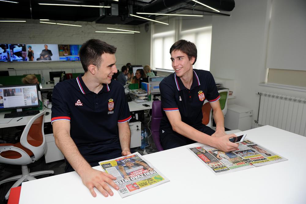 (KURIR TV) EVROPSKI ŠAMPIONI POSETILI KURIR: Nikola Mišković i Marko Pecarski o osvajanju zlata za Srbiju