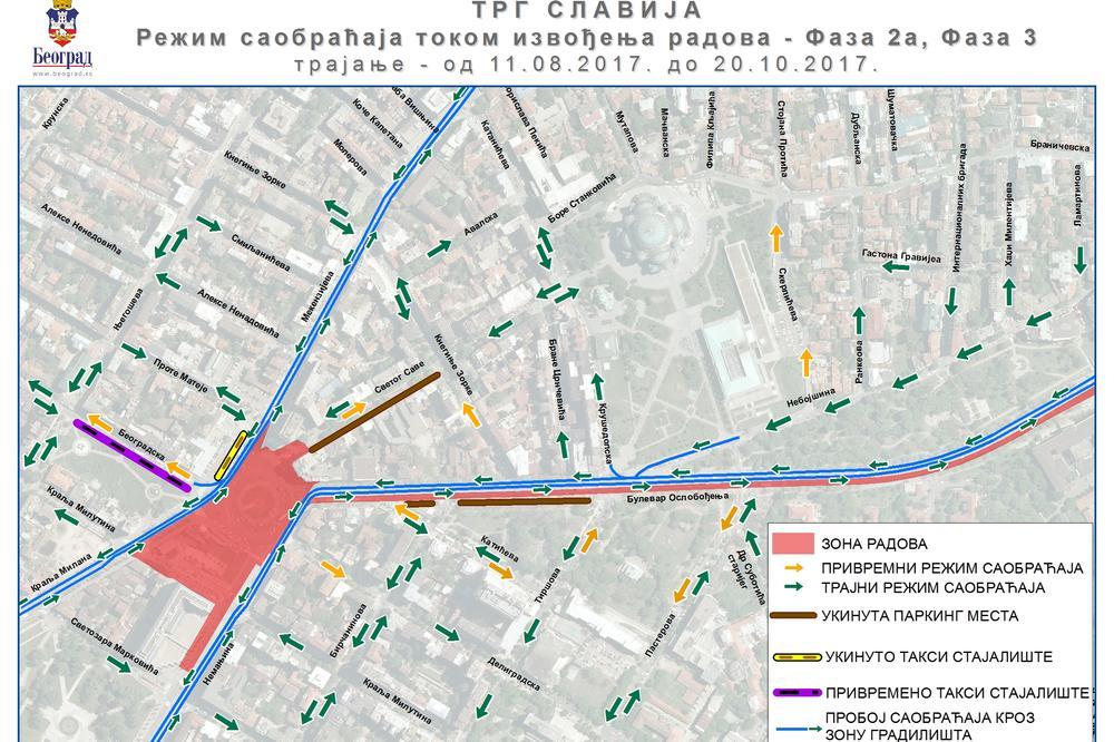 KOLAPS PRETI BEOGRADU: Slavija i Brankov most rade se u isto vreme
