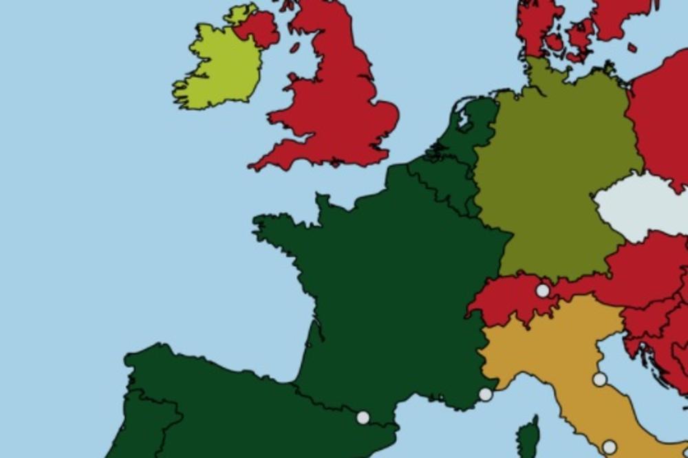 Mapa Tabua Evo U Kojim Evropskim Drzava Je Incest Dozvoljen A