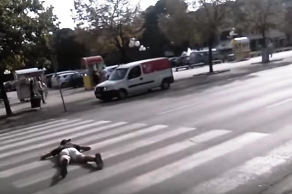 LESKOVAČKI IZAZOV: Ovi mladići iskaču pred automobile, ugrožavaju svoje i tuđe živote, provociraju građane, i sve to snimaju kamerom
