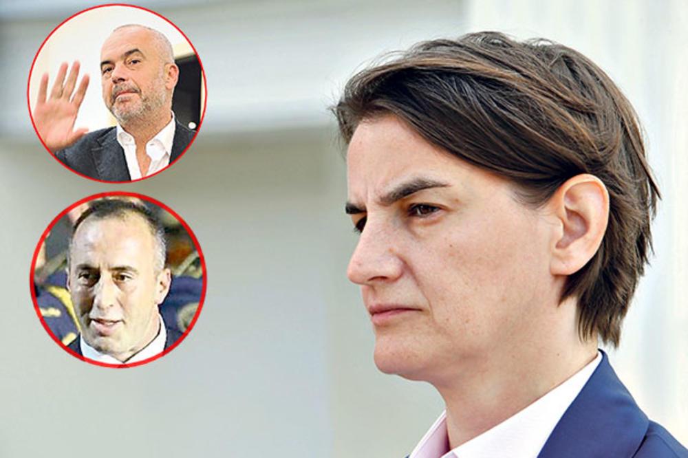 SUSRET U NIŠU: Ana Brnabić za stolom s Haradinajem i Ramom