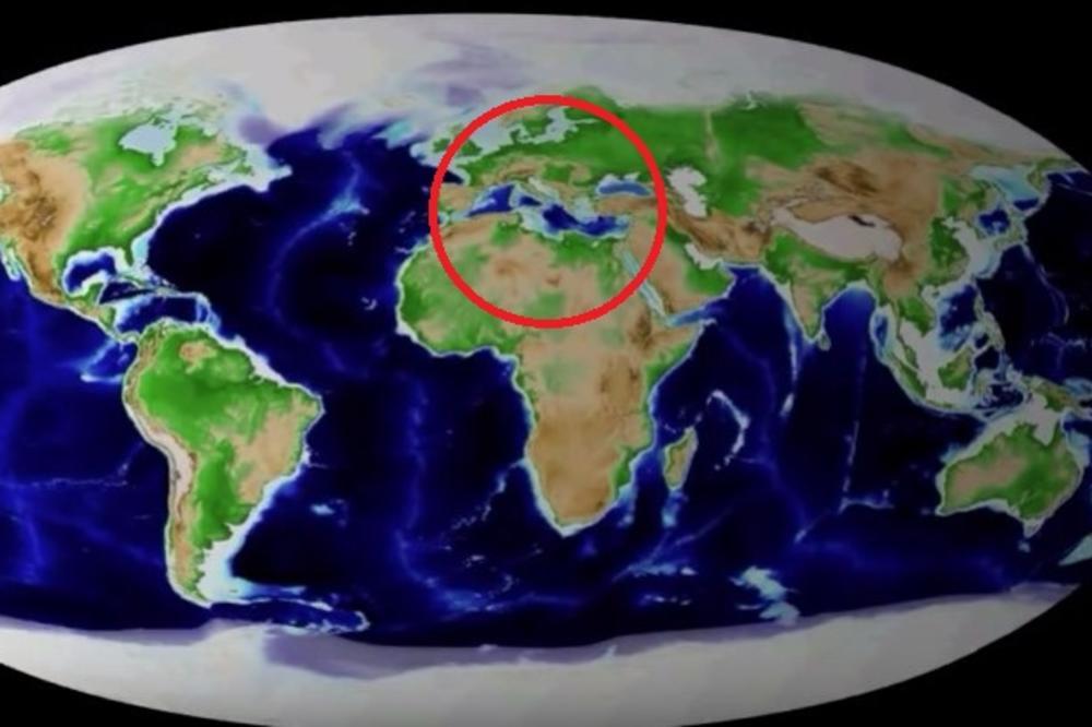 (VIDEO) POGLEDAJTE ŠTA ĆE BITI SA SRBIJOM: Ovako će izgledati svet za 250 miliona godina