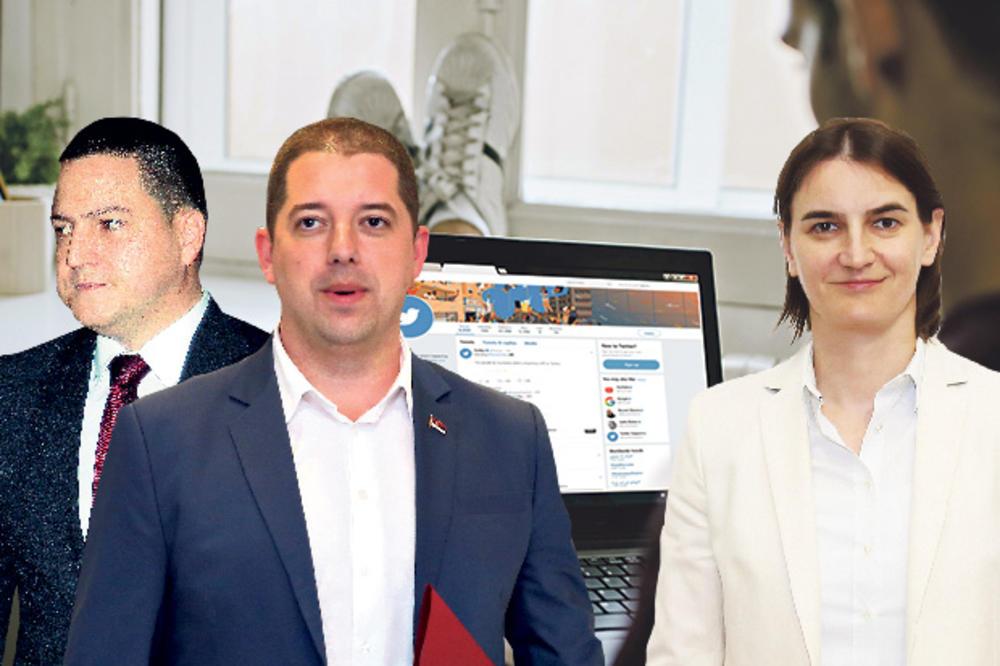 GLADAN NAROD PLAĆA BOTOVE: Brnabić, Đurić i Ružić daju milione za vođenje profila na Fejsbuku i Tviteru!