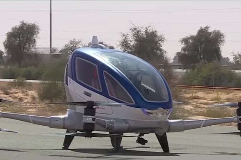 DUBAI UVODI LETEĆI TAKSI: Dron bez vozača voziće vas 30 minuta 100 na sat