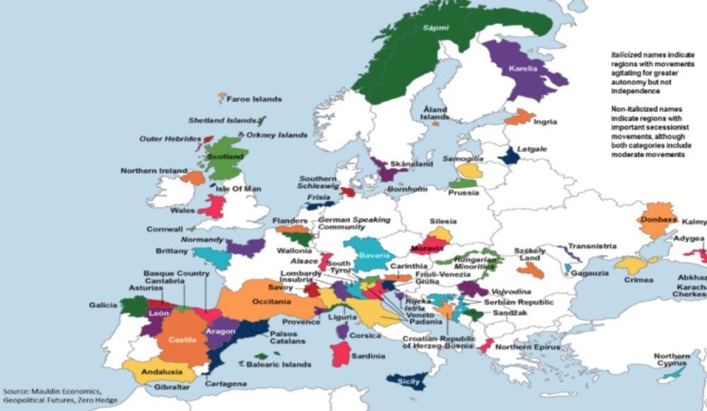 katalonija mapa FOTO) MAPA KOJA JE ŠOKIRALA SVET: Posle Katalonije i oni hoće  katalonija mapa