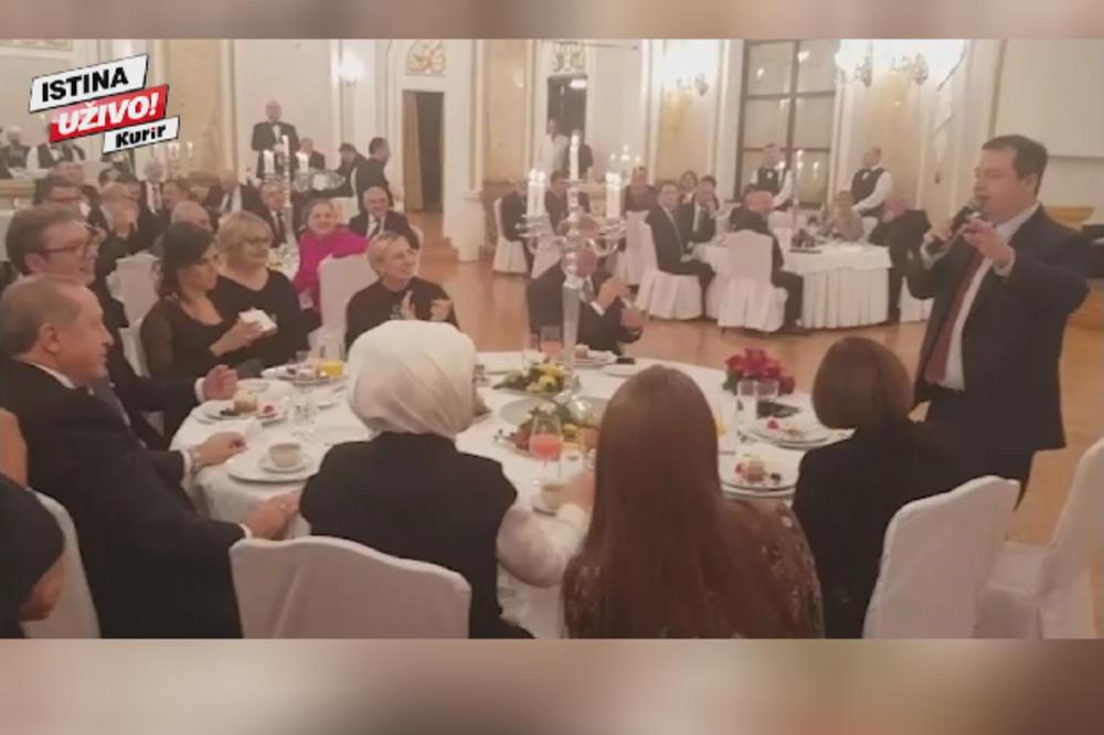 NE ZNA ENGLESKI, ALI PEVA NA TURSKOM! POGLEDAJTE DAČIĆEVU SPEKTAKULARNU TAČKU: Zapevao Erdoganu na turskom, usijao atmosferu, Vučić se valjao od smeha! (KURIR TV)