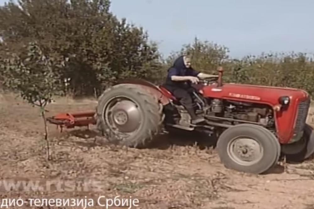 (VIDEO, FOTO) TOPLIČKA SUPERBAKA PAVLIKA (77) FANĐO NA TRAKTORU:  Služi on mene, ja ga volim, pre bi iz kuće izašla nego traktor da mi uzmu!