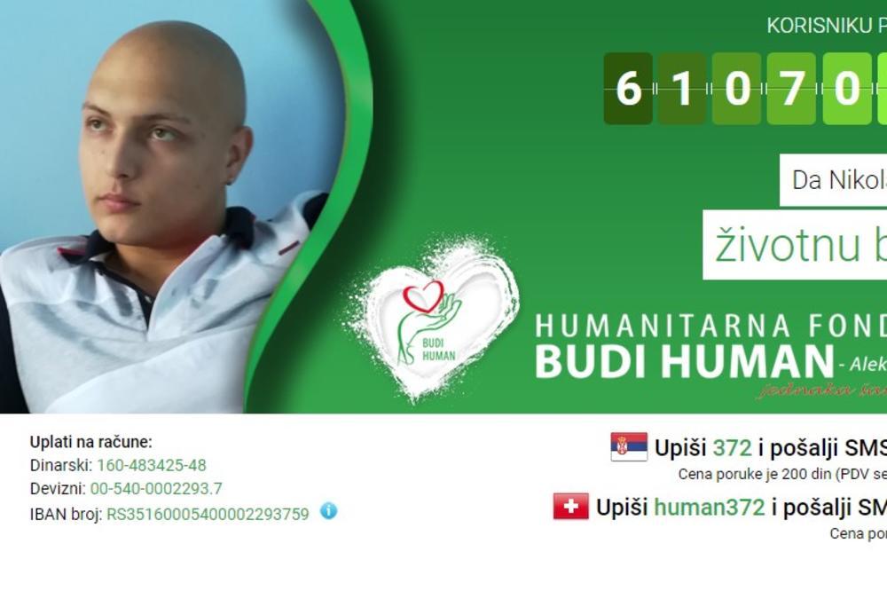 NIKOLI JE POTREBNA NAŠA POMOĆ: Dođite na humanitarnu žurku i pomozite mladiću da pobedi rak