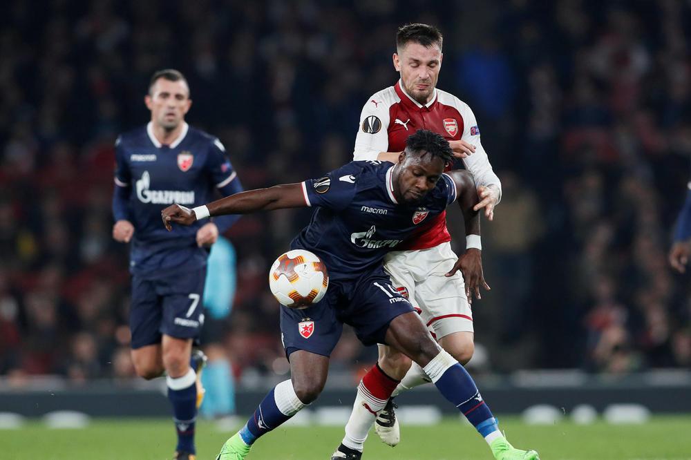(VIDEO) DELIJE GRMELE, CRVENO-BELI OSVOJILI BOD U LONDONU: Sjajna Zvezda remizirala sa Arsenalom, Boaći promašio pobedu