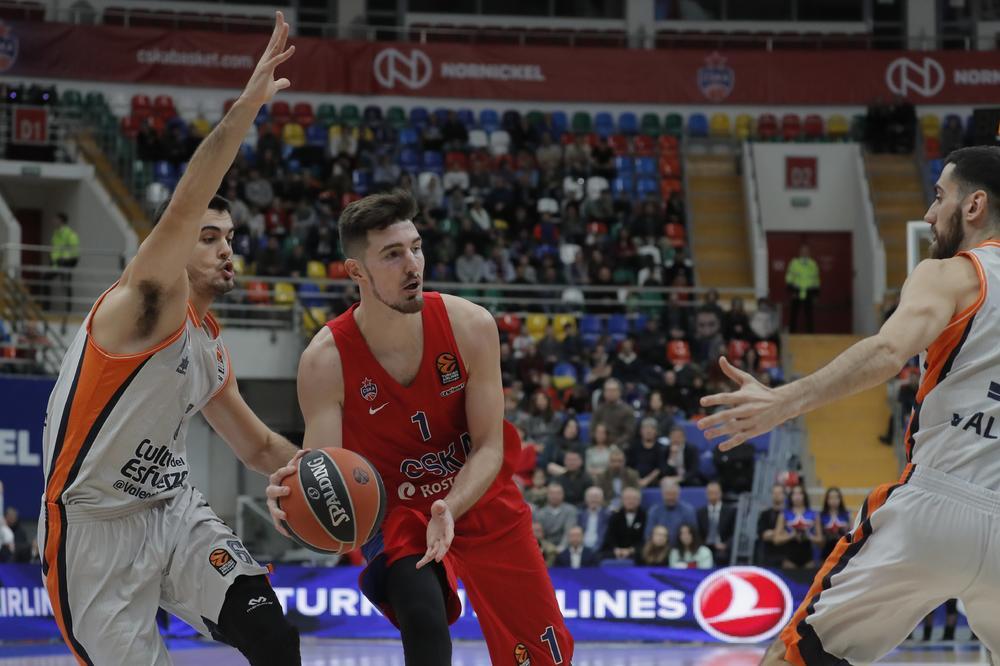 MOSKOVLJANI SIGURNI: CSKA bolji od Valensije, Nando de Kolo ubacio 23 poena