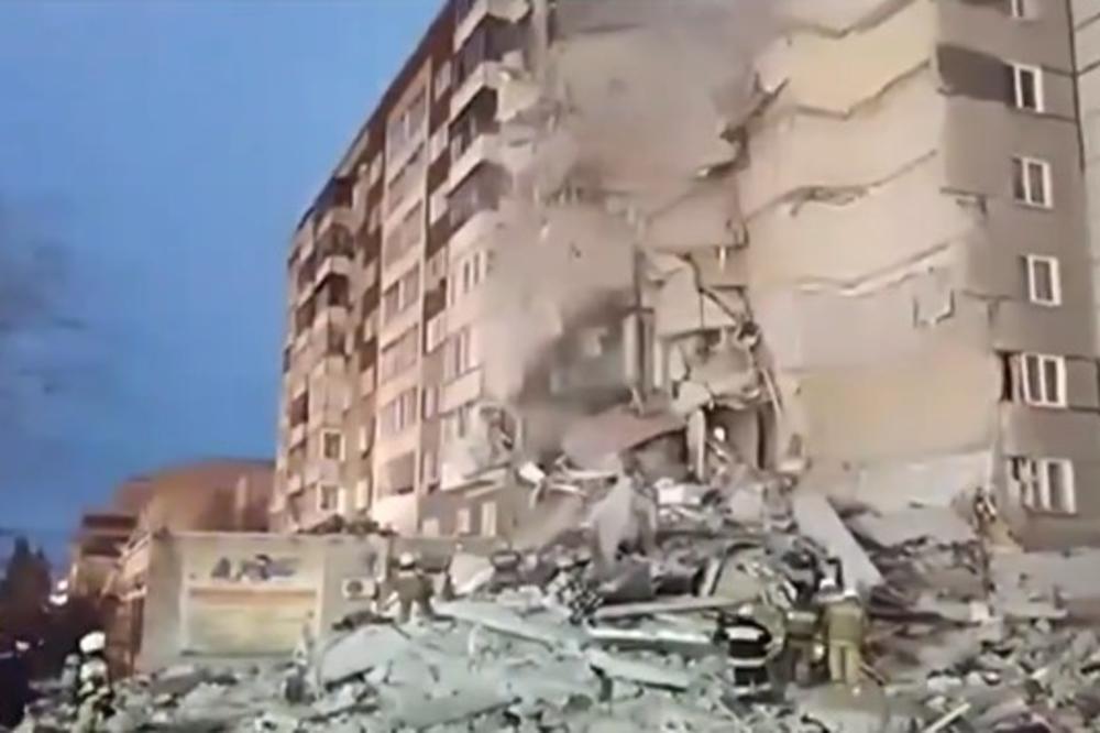 (VIDEO) JEZIVI SNIMAK TRAGEDIJE U RUSIJI: U urušavanju zgrade stradala i beba