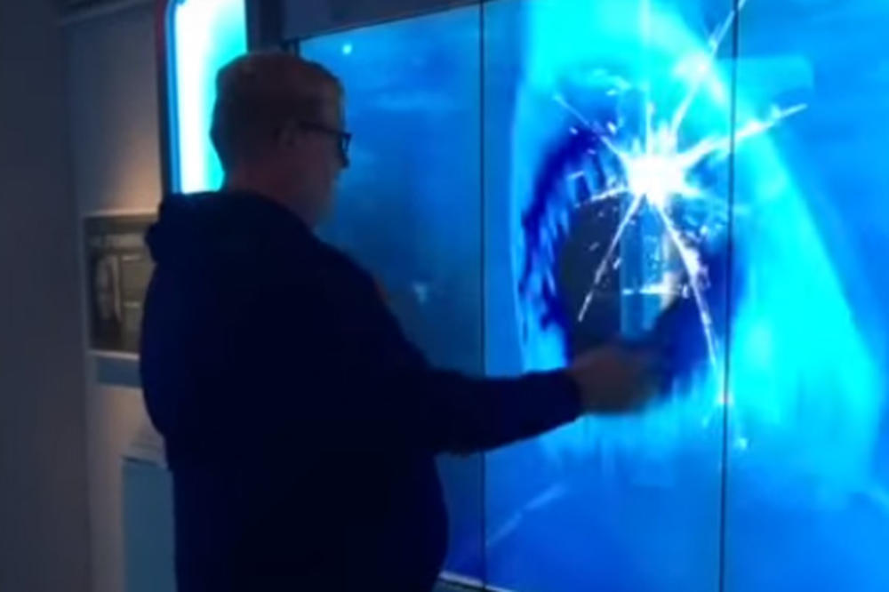 (VIDEO) SUROVA ŠALA: Poseta muzeju se pretvorila u horor kada je ajkula razbila staklo!