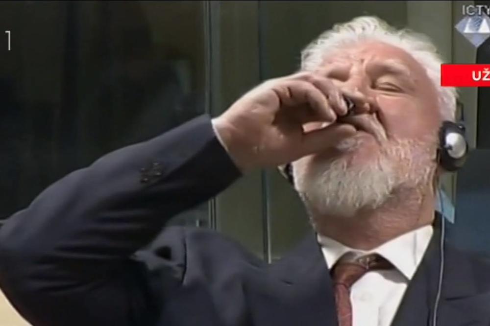 OPŠTA PANIKA U HAGU, EVAKUACIJA HRVATSKOG PUKOVNIKA – Sudija zabranio da se iznosi sporna čašica iz koje je pio Praljak!?