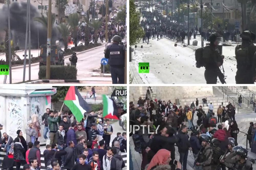 (VIDEO) ULIČNI RAT NA BLISKOM ISTOKU: Palestinci gađaju kamenicama i bakljama, iz Gaze ispaljene i dve rakete!