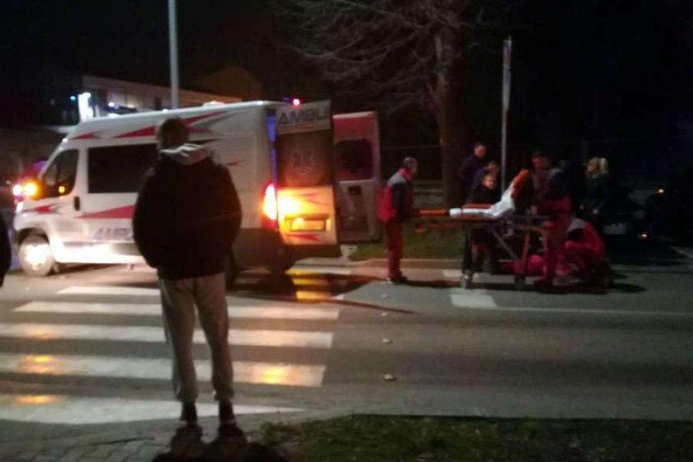 (FOTO) TEŠKA NESREĆA U PANČEVU: Vozač udario devojčicu na pešačkom, letela metar i po od siline udarca