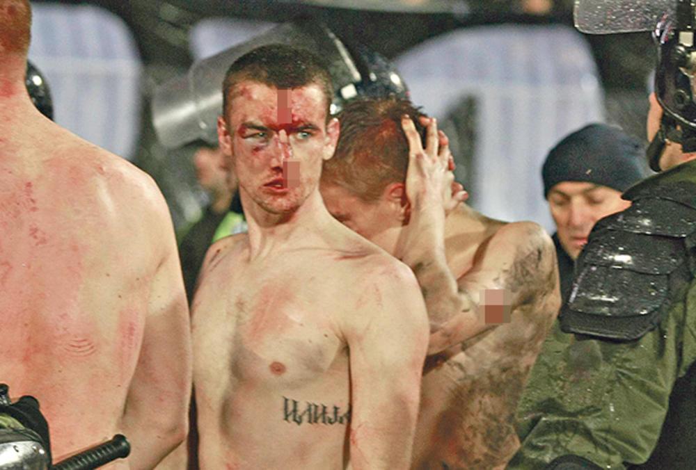 00:13h IZGUBIO SE U METEŽU: Kriminalac iz beogradskog podzemlja koji je organizovao haos bio je na tribinama do samog početka nereda!