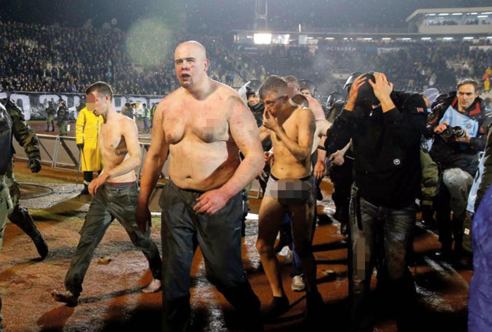 huligani, huligan, navijači, Partizan, Crvena zvezda, derbi, tuča