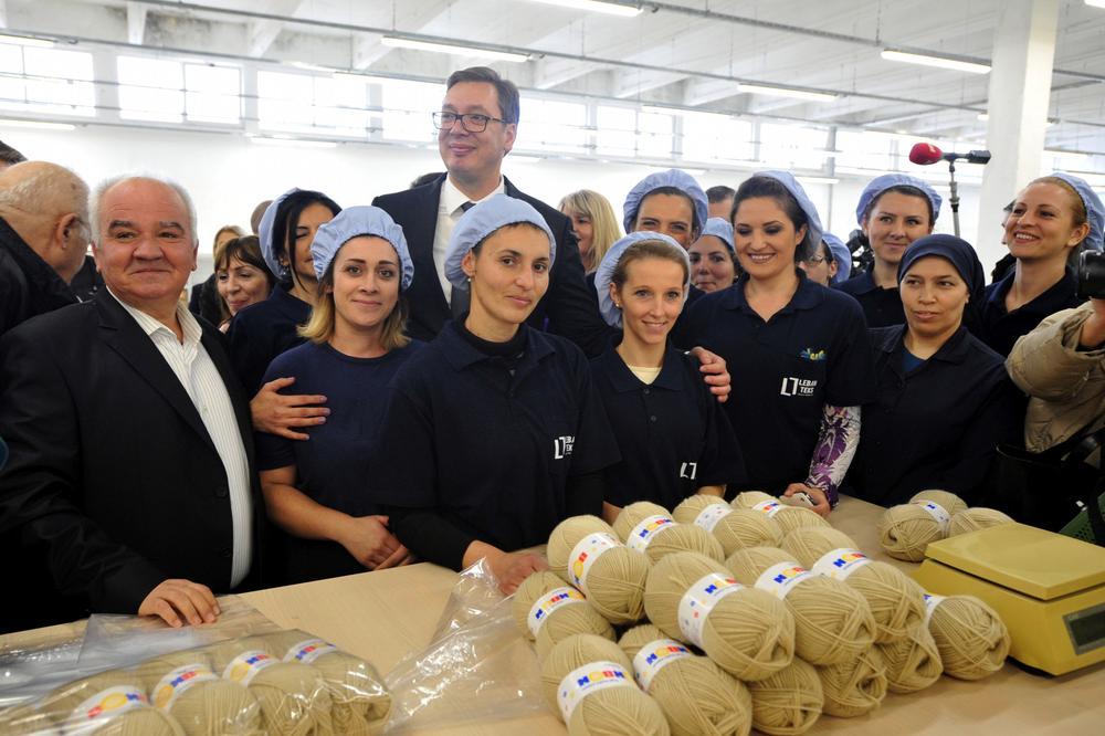 (FOTO) VUČIĆ U LEBANU: Otvorena fabrika tekstila, posao za 350 radnika! Politikadobrih odnosa sa Turskom otvara radna mesta