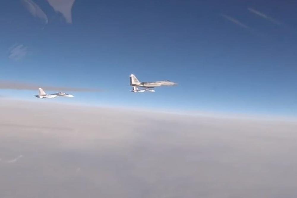 VRELO IZNAD BALTIKA – Ovako je američki lovac presreo ruski avion zbog isključenog radara! VIDEO