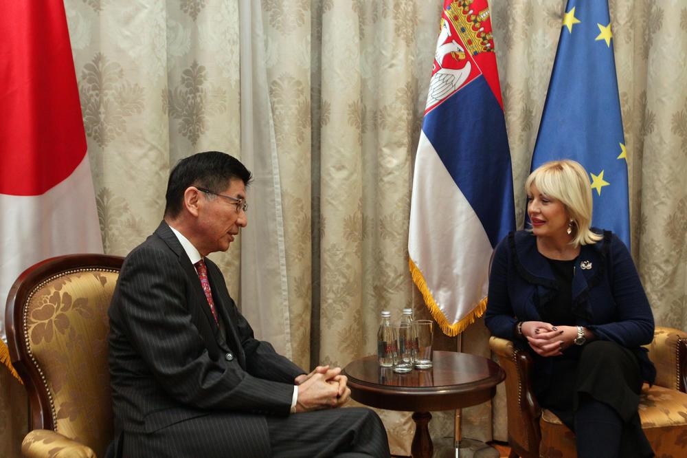 MINISTARKA JOKSIMOVIĆ RAZGOVARALA SA JAPANSKIM AMBASADOROM: Japan je važan razvojni partner Srbije