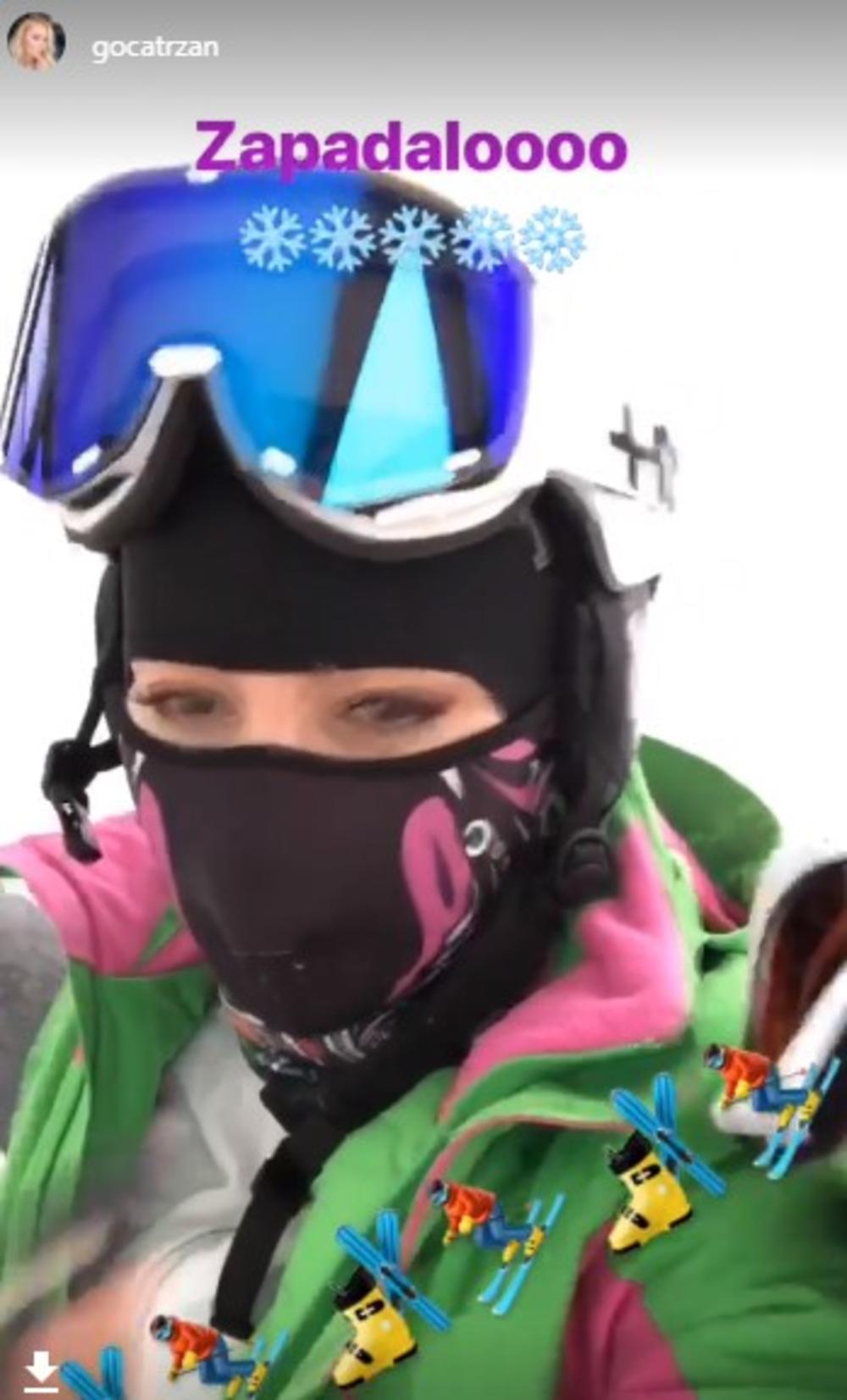 (VIDEO) Goca Tržan otišla na skijanje, a ono što je URADILA OSTAVIĆE VAS U NEVERICI!