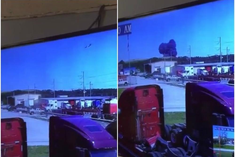 (VIDEO) KAMERE SNIMILE HOROR: Ovo je trenutak kada se nasred puta srušio američki vojni avion