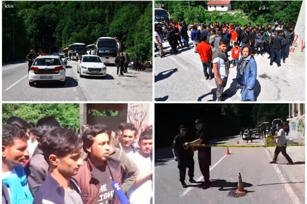 DRAMA NA IVAN SEDLU! SUDAR DVE POLICIJE, UMEŠALI SE I SPECIJALCI: Policija HNK vratila autobus s imigrantima u Sarajevo! MEKTIĆ: Ovo je državni udar! (VIDEO)