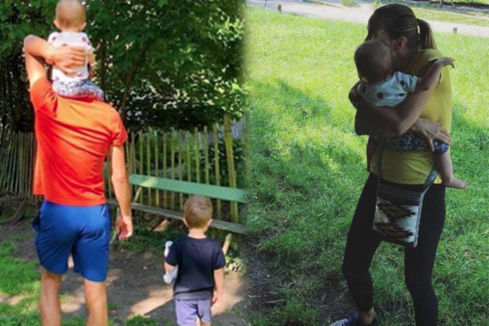 Porodicna Setnja U Parizu Nole Jelena Stefan I Tara Uzivaju U Parku đokovici Kakve Dosad Niste