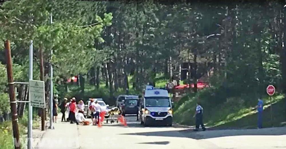 Mesto nesreće... Dečak je nakon udarca odbačen 20 metara