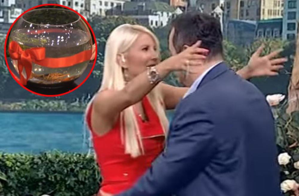 JA SAD MORAM DA TE IZLJUBIM: Dačić je voditeljki doneo poklon koji je oborio sa nogu! Ona u šoku: Zvaće se Ivica! (VIDEO)