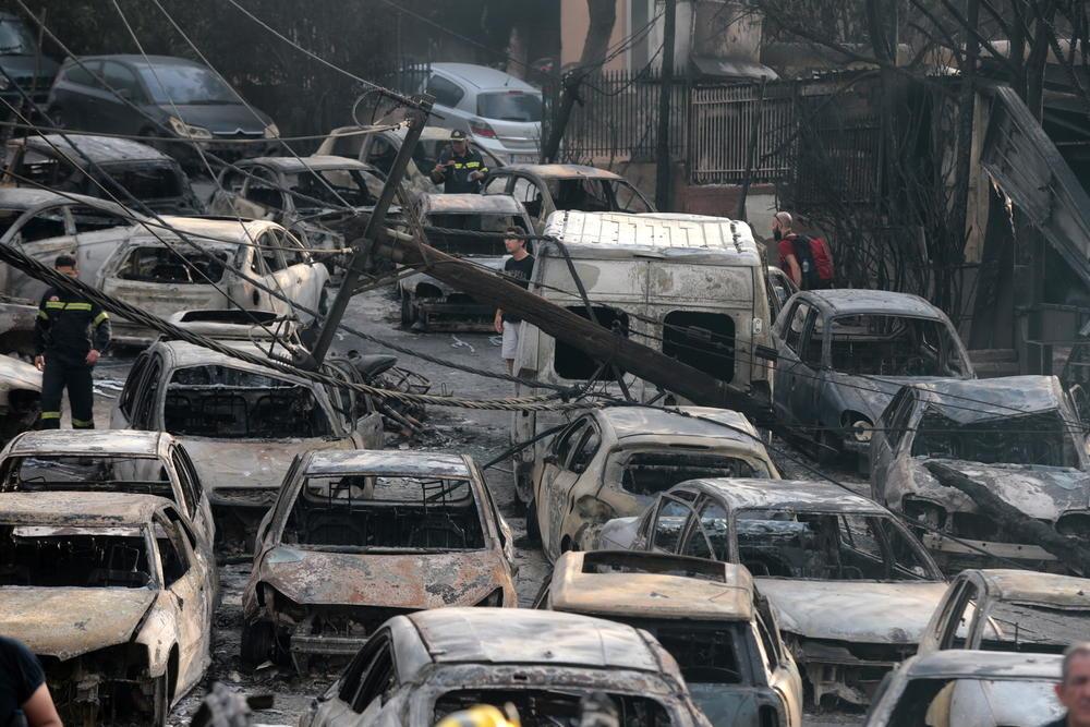 požari u Grčkoj