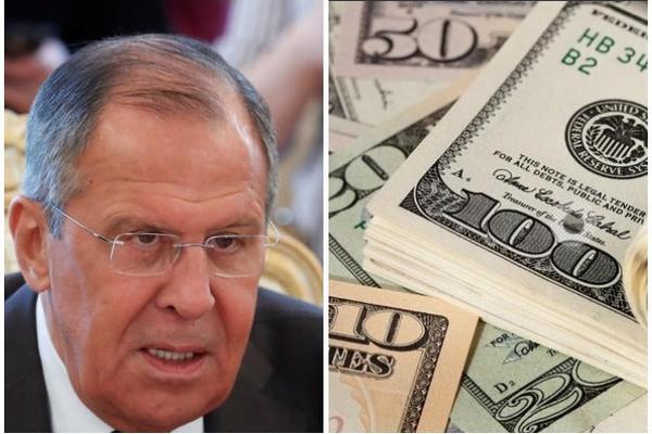 LAVROV O ZLOUPOTREBI AMERICKE VALUTE: Tramp je grobar dolara, PADACE SVE VISE I VISE!