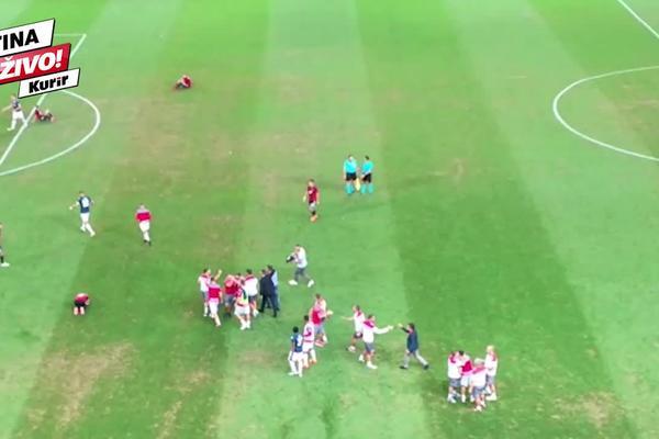 TRNAVA SE TRESE OD SLAVLJA CRVENO-BELIH: Pogledajte radost igrača i Delija po završetku utakmice (KURIR TV)