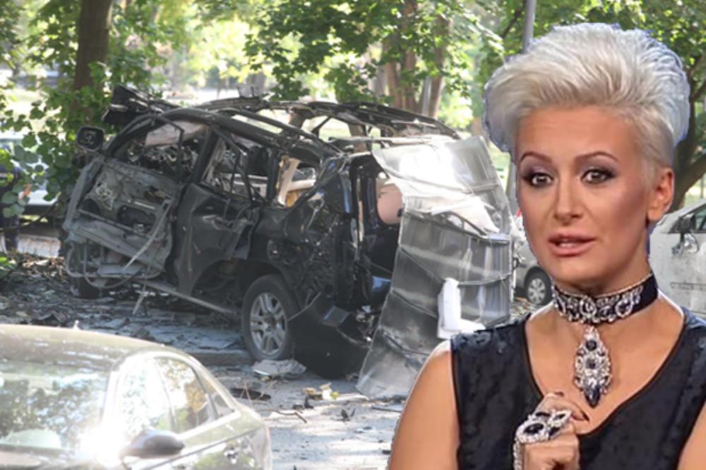 EKSPLOZIJA DŽIPA NA AUTOKOMANDI OPOMENA ZA VODITELJKINOG DEČKA?! Bomba namenjena njenom izabraniku?! Dušica u panici van sebe! (KURIR TV)
