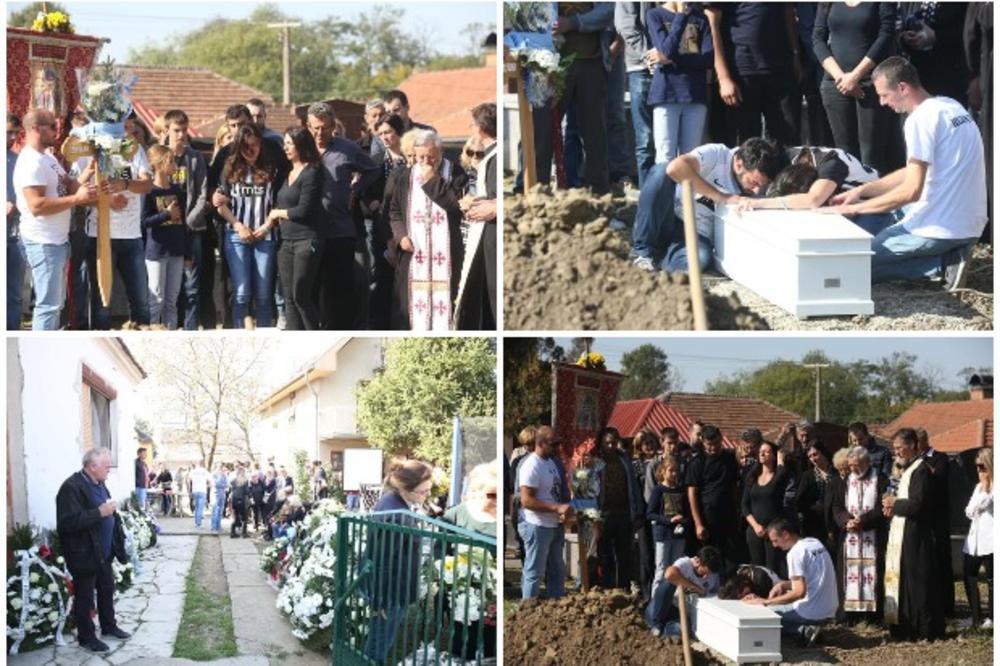 SRCEPARAJUĆI PRIZORI NA GROBLJU U KUŠILJEVU: Mali Dušan (4) sahranjen u belom kovčegu, jecaji majke i oca parali nebo