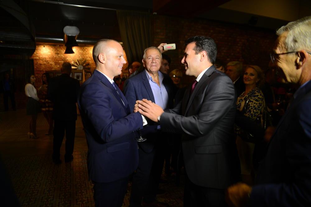Aleksandar Rodić, predsednik AMG, Zoran Zaev, premijer Makedonije, i Dragan Živković