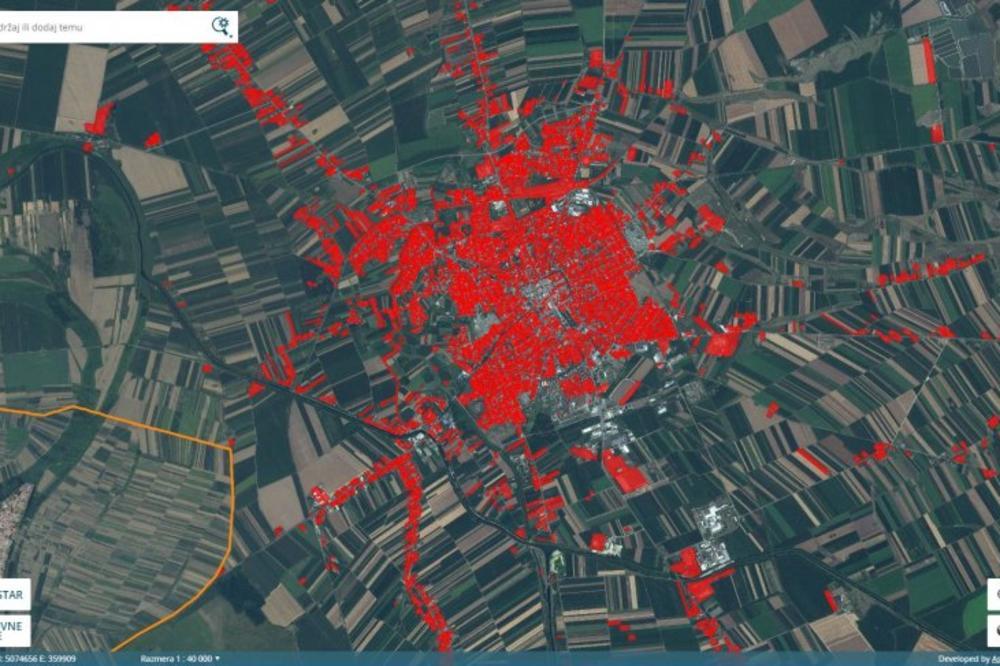 Ovi Gradovi Se Crvene Na Mapi Geosrbije U Somboru Izdato Vise Od