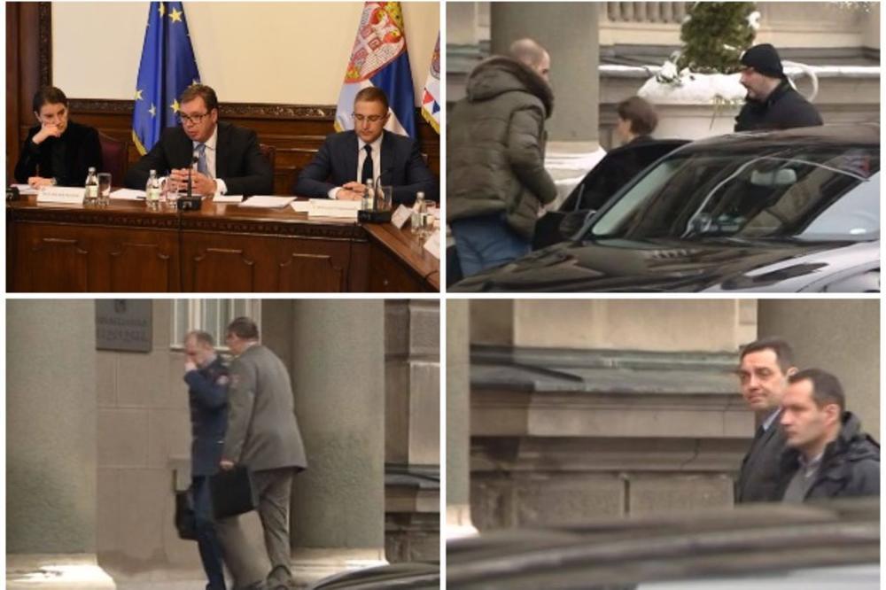 POČELA SEDNICA SAVETA ZA NACIONALNU BEZBEDNOST: Vučić okupio državni vrh, stigli Brnabićeva, Vulin, načelnik GŠ Mojsilović... (FOTO)