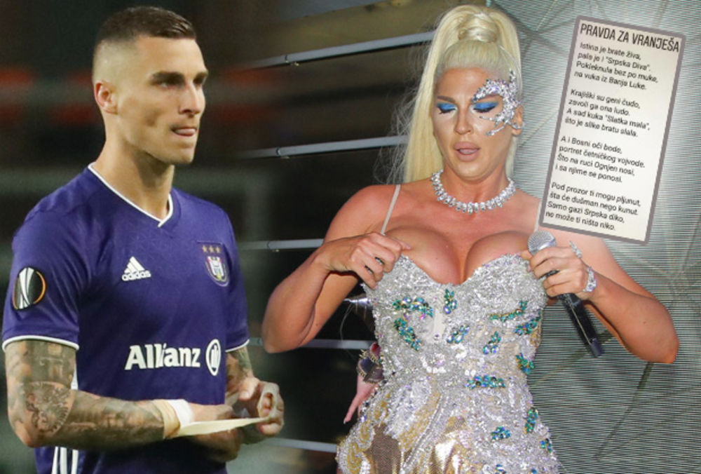HIMNA ZA VRANJEŠA ZALUDELA INTERNET: Fanovi bosanskog fudbalera URNEBESNO opevali aferu sa JK! Krajiški su geni čudo, zavoli ga ona ludo! (FOTO)