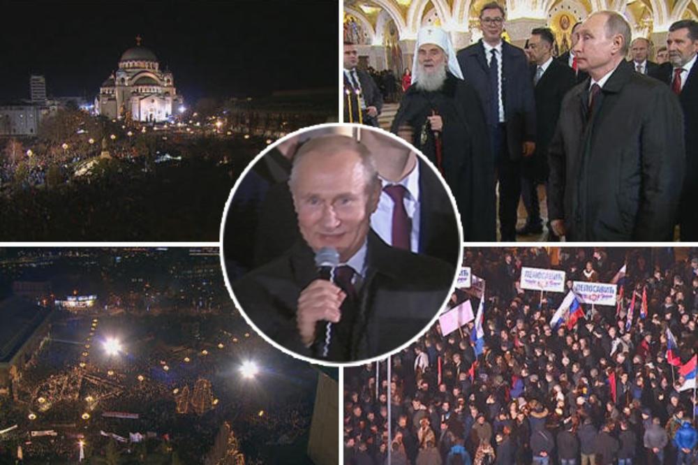 UŽIVO! PUTIN ISPRED HRAMA: Predsednik Rusije pozdravio građane: Hvala vam na prijateljstvu!