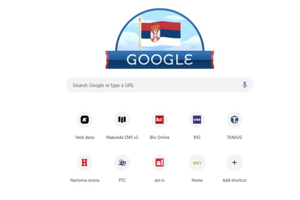 Gugl U Bojama Srbije Internet Pretrazivac Cestita Nam Dan Drzavnosti
