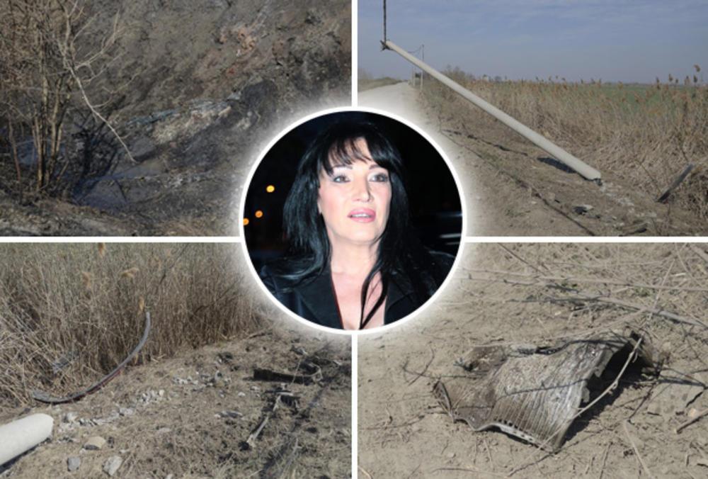 SRUŠENA BANDERA, DELOVI AUTA SVUDA PO PUTU, IZGORELA TRAVA: Ovo je mesto gde je auto Goce Božinovske sletelo s puta i zapalilo se! JEZIVO (KURIR TV)