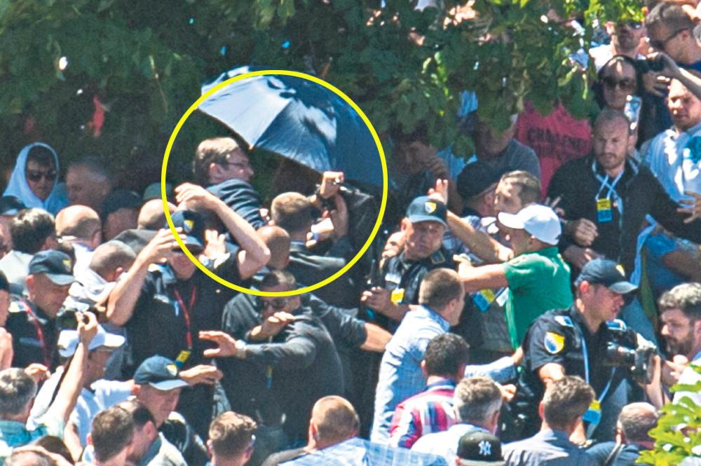 Potočari 2015... Orićevi fanatici pod komandom Aličkovića napadaju Aleksandra Vučića