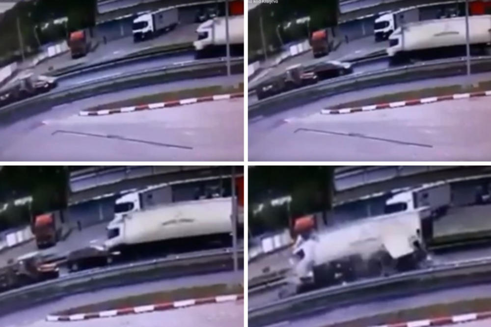 KAMERE SNIMILE STRAVIČNU NESREĆU KOD KRALJEVA, NASTRADAO VOZAČ: Pokušao da pretekne traktor, a onda se zakucao direkt u kamion! UŽAS NA LICU MESTA (UZNEMIRUJUĆI SNIMAK)