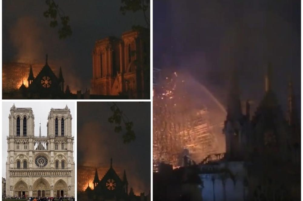 GRAĐENA 100 GODINA, A  NESTALA ZA 2 SATA: Požar potpuno uništio katedralu Notr Dam, simbol Pariza i čitave Francuske! Crkvu 2018. posetilo 13 MILIONA LJUDI! (VIDEO)